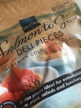 smoked salmon pieces