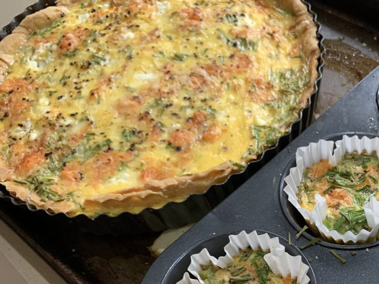 Trout Goats Cheese Tart Frittatas
